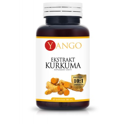 Kurkuma - ekstrakt + piperyna - 60 kapsułek